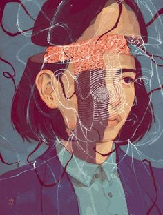 Sarah Go is a digital artist and illustrator in Alberta, Canada, and a fourth year Visual Communication Design Student. #anatomy #art #drawing #brain