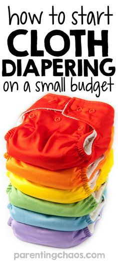 How to Start Cloth Diapering on a Small Budget?