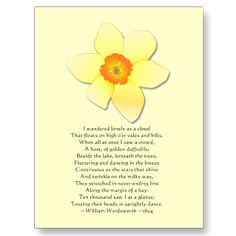 Daffodils by William Wordsworth--one of my favorite poems