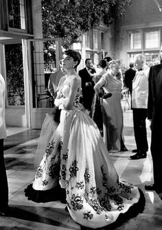 Rare Audrey Hepburn — Audrey Hepburn's Givenchy gown from Sabrina sold...