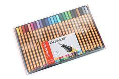 Stabilo Point 88 Fineliner Marker Pen - 0.4 mm - 25 Color Set - Wallet