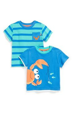 Little Me Crab T-Shirts (Set of 2) (Baby Boys) | Nordstrom