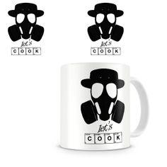 Taza Breaking Bad. Let's Cook símbolos Taza inspirada en la exitosa serie de televisión Breaking Bad, donde su protagonista, Walter White, se adentra en el mundo de las drogas tras detectarle una enfermedad terminal.
