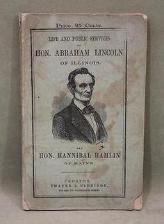 RARE-1860-Abraham-Lincoln-Hannibal-Hamlin-Presidential-Campaign-Book.