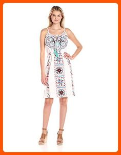 Plenty by Tracy Reese Women's Embroidered Dress, Bleach Multi, L - All about women (*Amazon Partner-Link)