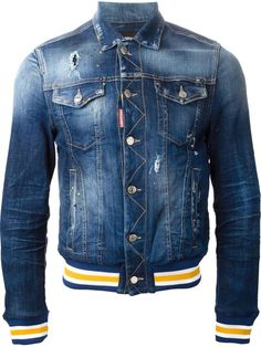 Shop the latest collection of Designer Denim Jackets for Men. Designer Denim Jacket, Denim Jacket Men, Denim Jeans Men, Denim Coat, Love Jeans, Jeans Style, Gilet Jeans, Mens Outdoor Jackets, King Fashion