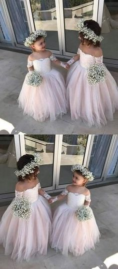 Outlet Admirable Flower Girl Dresses With Sleeves, Bridesmaid Dress Pink Flower Girl Dresses Pink Bridesmaid Dress Long Sleeves Flower Girl Dresses Bridesmaid Dresses 2018 Toddler Flower Girl Dresses, Tulle Flower Girl, Girls Dresses, Wedding Flower Girl Dresses, Flower Girl Bouquet, Cheap Flowers For Wedding, Vintage Flower Girl Dresses, Cheap Wedding Ideas, Flower Girl Headpiece