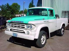 1959 Dodge Power Wagon Maintenance of old vehicles: the material for new cogs/casters/gears/pads could be cast polyamide which I (Cast polyamide) can produce Hot Rod Trucks, Cool Trucks, Pickup Trucks, Cool Cars, Old Dodge Trucks, Dodge Pickup, Dodge Power Wagon, Antique Trucks, Vintage Trucks