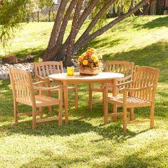 Southern Enterprises Teak Dining Table Set - Seats 4