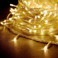 LEDemain 100 LEDs Fairy Light Battery Operated String Light with 13 Key Remote for Wedding Party Home Christmas Decoration Christmas Rope Lights, Battery Operated String Lights, Luz Led, Fairy Lights, Outdoor Gardens, Remote, Christmas Decorations, Wedding, Amazon Fr