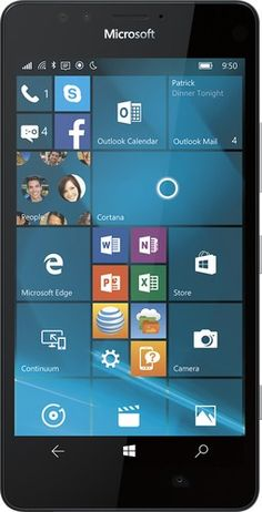 Microsoft - Lumia 950 4G LTE with 32GB Memory Cell Phone - Black (AT