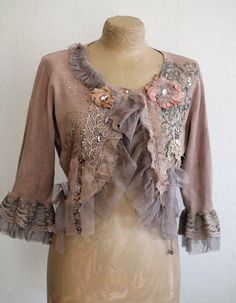 little baroque jacket no2  romantic textile art by FleursBoheme