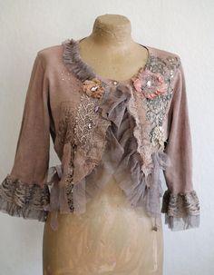 little baroque jacket no2  romantic textile art by FleursBoheme
