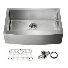 Best Apron-Front Sinks! Discover the top-rated farmhouse apron sinks for your kitchen. We love white farmhouse sinks, black farmhouse sinks, double farmhouse sinks, and more. You won't regret a purchase a beautiful sink for your farmhouse kitchen.