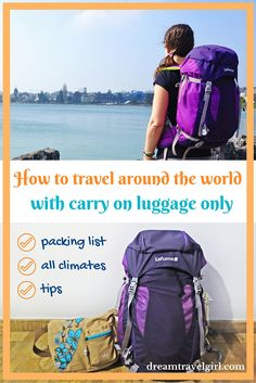 A round the world trip with carry on luggage only is possible, even with changing weather conditions. This is my packing list including feedback and tips.