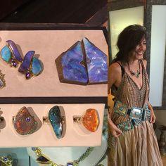 Jennifer Kalled, Boulder Opal rings in 22k and 18k gold. www.kalledjewelrystudio.com