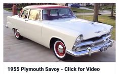 Vintage Cars Classic 1955 Plymouth Savoy - Here's a nice survivor Plymouth have a 1955 Club Sedan with only miles on the odometer Plymouth Savoy, Plymouth Cars, American Auto, American Classic Cars, Chevrolet Camaro, Corvette, Car Station, Dodge Chrysler, Ford