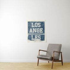 Los Angeles California | Blue City Map Tapestry - typography gifts unique custom diy