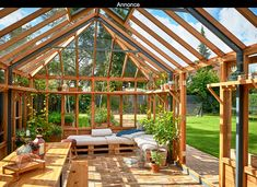 10 good reasons for a greenhouse www. Although ancient with thought, the pergola have Greenhouse Plants, Backyard Greenhouse, Balcony Garden, Outdoor Spaces, Outdoor Living, Decoration Bedroom, Pergola Designs, Dream Properties, Back Gardens
