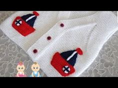 This post was discovered by As Knitting Videos, Crochet Videos, Free Knitting, Crochet Baby Clothes, Crochet Baby Hats, Knit Crochet, Baby Knitting Patterns, Baby Vest, Boys Sweaters