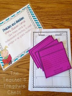 The Teacher's Treasure Chest: Problem and Solution, Guided Math Centers