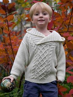 Tobias Hoodie from Aran & Nordic Knits for Kids by Martin Storey contains 25 designs for babies and young children.  This Scandinavian inspired collection of designs has a range of delightful projects which include both traditional patterns and some with a contemporary twist | English Yarns