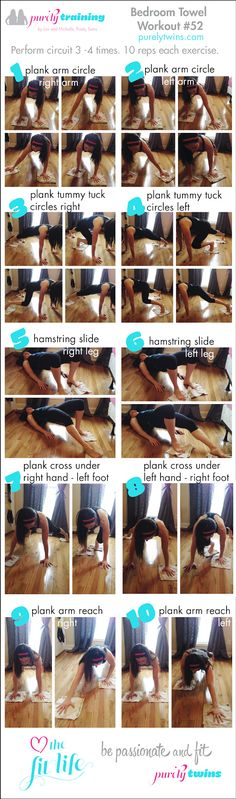 Bedroom Towel Workout Purely Training