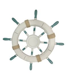 Loving this Large Ship Wheel Décor on #zulily! #zulilyfinds (carters room)