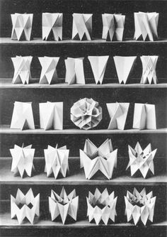 Bruckner's 1906 polyhedra From the book: Uber die gleichecking-gleichflachigen… Geometry Shape, Sacred Geometry, Paper Folding Techniques, 3d Prints, Paper Artist, 3d Max, Science Art, Kirigami, Paper Design