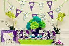 """Photo 1 of 11: Purple and Lime Whimsical / Birthday """"Tinkerbell Inspired Fairy Party""""   Catch My Party"""
