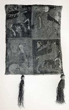 Purse with Two Figures under a Tree (back), 14th century France, Metropolitan Museum of Art, Accession Number 27.48.3