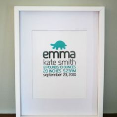 Personalized nursery art... so sweet!