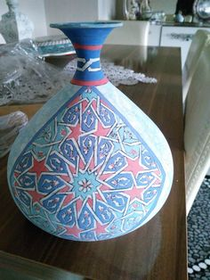 Design Patterns, Islamic Art, Vase, Ceramics, Painting, Ideas, Home Decor, Templates, Hall Pottery