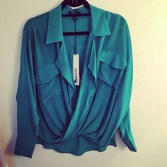 Emerald green blouse available at KB Kasuals
