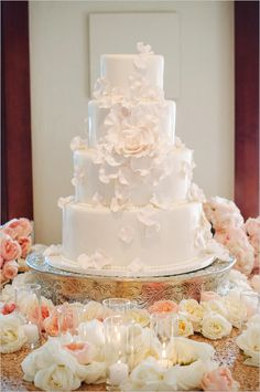37 Exquisite All-White Wedding Cakes – Famous Last Words All White Wedding, White Wedding Cakes, Elegant Wedding Cakes, Beautiful Wedding Cakes, Gorgeous Cakes, Wedding Cake Designs, Pretty Cakes, Wedding Cake Toppers, Cake Wedding