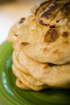 Naan Recipe: If You Can Make Pancakes, You Can Make Naan! I hope so, 'cause I have been wanting a recipe for this yummy traditional Indian bread.