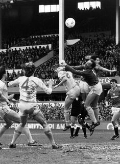 Liverpool Vs Man Utd in the FA Cup Semi Final 1985. Bruce Grobbelaar punches the ball away