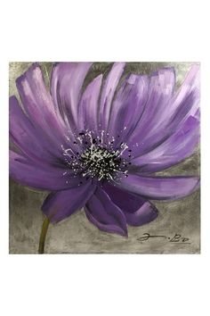 Purple Flower Oil Painting