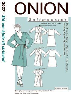 Symønster:Slå om kjole. Sy med Onion. Køb her http://www.stofrullen.dk/shop/2037-slaa-om-kjole-17662p.html
