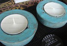 Porta candels realizados por Saulam Chic. + info: http://wp.me/p3j0Sm-to