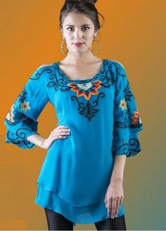 "Brands :: Vintage Collection :: VINTAGE COLLECTION 2014 TURQUOISE "" SUNSHINE"" TUNIC - Native American Jewelry