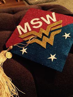 My MSW graduation cap made by my husband. ❤️it! -jgarst