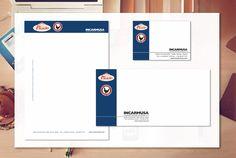 Aplicación de logotipo en papelería y tarjeta corporativa