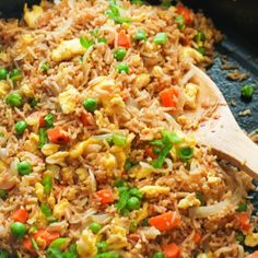 Learn how to make a mean EGG FRIED RICE at home that is on par with your favorite Chinese restaurants. Made with just a few simple ingredients, this quick Easy Rice Recipes, Dinner Dishes, Dinner Recipes, Lunch Recipes, Dinner Ideas, Mixed Vegetables, Rice Ingredients, Rice Dishes, Dinner Rolls