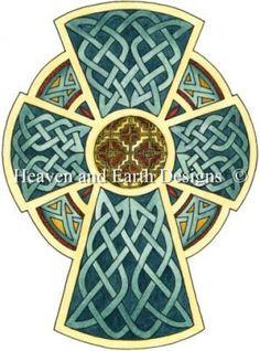 Cross of Ireland Cross Stitch from HAED