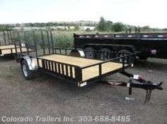 This trailer would be perfect for my needs. I need something that is long in length, but also wide open so I can put taller items in it. This would be perfect for dirt bikes or snowmobiles as well.