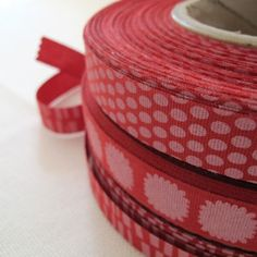 italian cotton ribbon in poppi from pikku