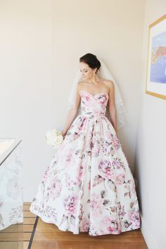 Best 14 Cozy Floral Wedding Dress Ideas That Look More Awesome The idea of ​​a wedding gown with a floral motif will certainly be a very beautiful dress on your big day. You certainly want a dress that can make yo. Floral Wedding Gown, Wedding Dresses With Flowers, Wedding Dresses For Sale, Gorgeous Wedding Dress, Colored Wedding Dresses, Wedding Dress Styles, Designer Wedding Dresses, Bridal Dresses, Beautiful Dresses