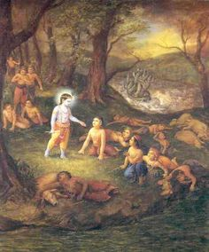 Krishna brings His friends back to life. Señor Krishna, Krishna Lila, Little Krishna, Lord Krishna, Shiva, Hare Rama Hare Krishna, Krishna Photos, Krishna Pictures, Krishna Images