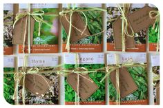 Seed packets for favors--so cute!
